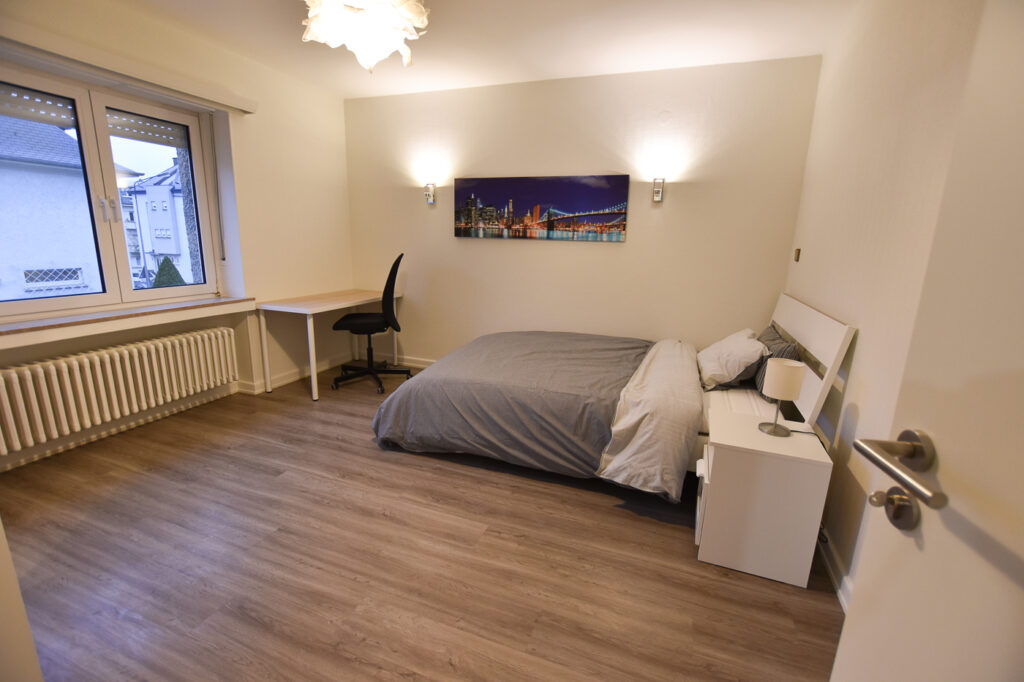 Furnished double bedroom (A) – spacious house | Bonnevoie, rue William Turner - 'BANKSY'-1