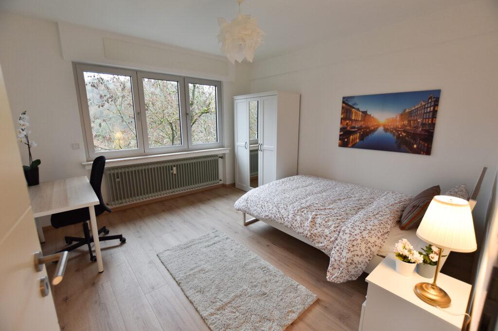 Chambre double meublée (A) – appartement neuf | Bonnevoie, 8 rue George C. Marshal - 'HOPPER'-1