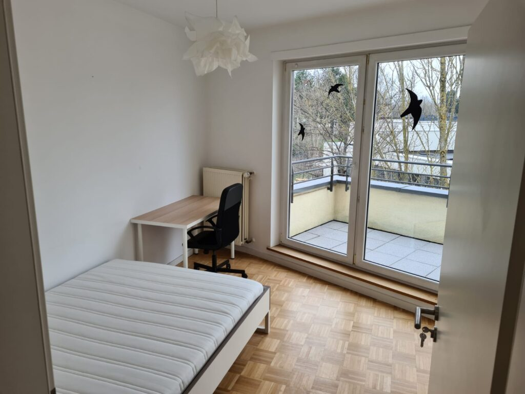 Furnished double bedroom (B) + terrace – brand new flat | Bonnevoie, 8 rue George C. Marshal - 'HOPPER'-1